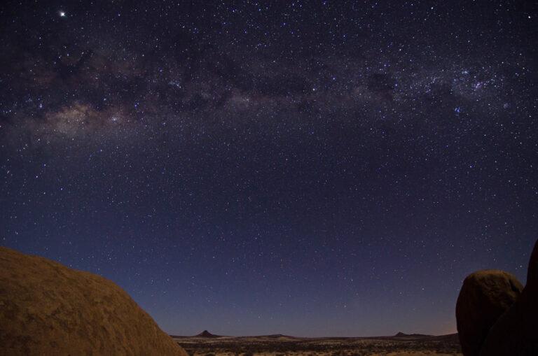 Wunderschöner Sternenhimmel über Spitzkoppe