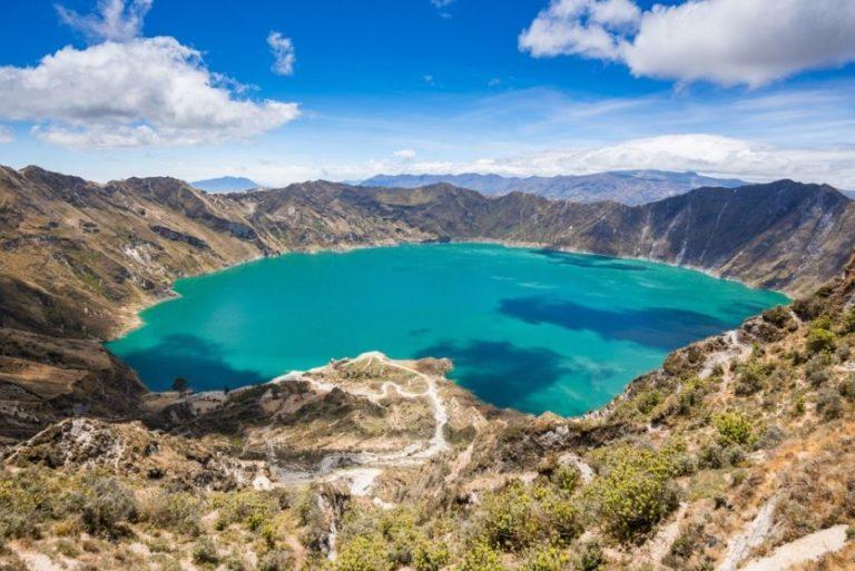 Traumhaft schöner Quilotoa See