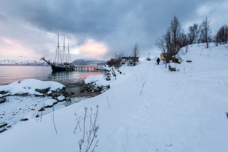 Festgemacht für die nächste Wanderung im Schnee