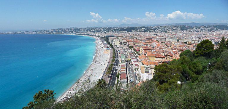 Ausblick auf das wunderschöne Nizza