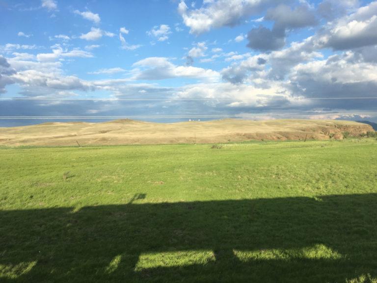 Die Aussicht auf die mongolische Steppe genießen