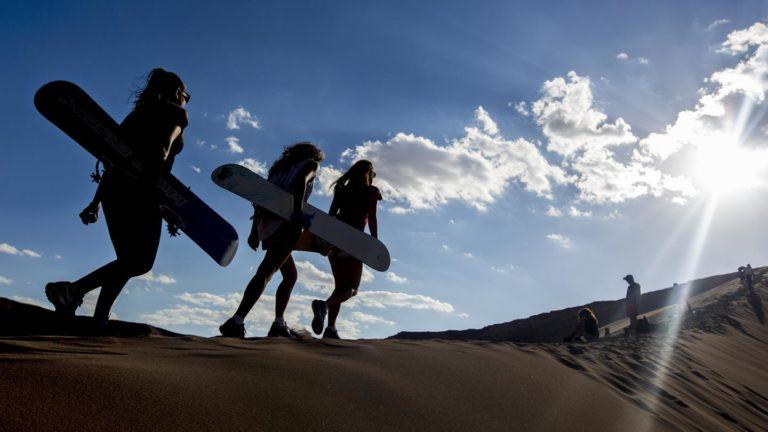 Auf zum Sandboarding