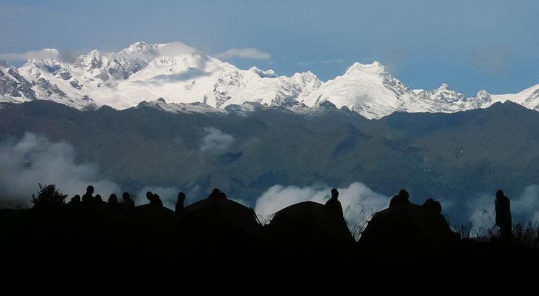 Campen in beeindruckender Landschaft auf dem Inka Trail