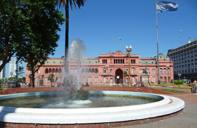 Der Präsidentenpalast von Buenos Aires