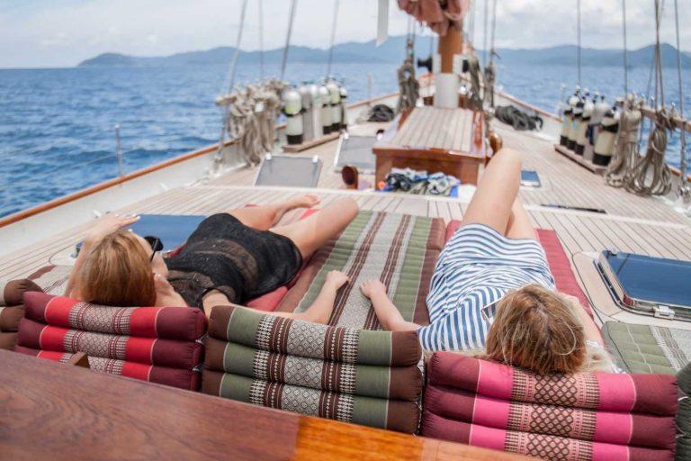 Entspannen an Deck