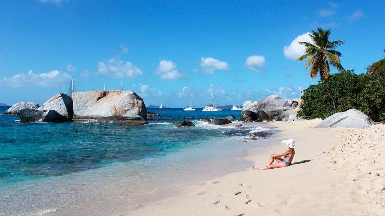 Karibisches Strandleben