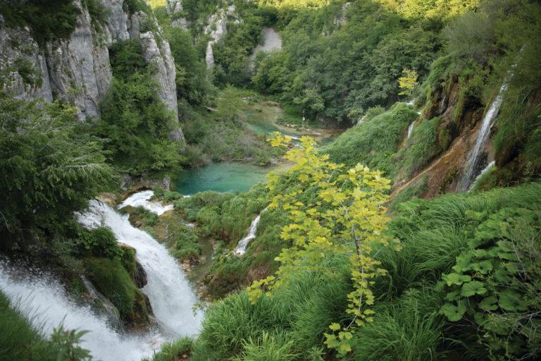 Traumhafte Landschaft der Plitvicer Seen