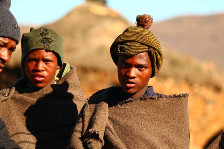 Schafhirten in Lesotho