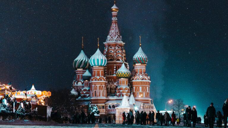 beeindruckende Basilius-Kathedrale auf dem Roten Platz, Russland