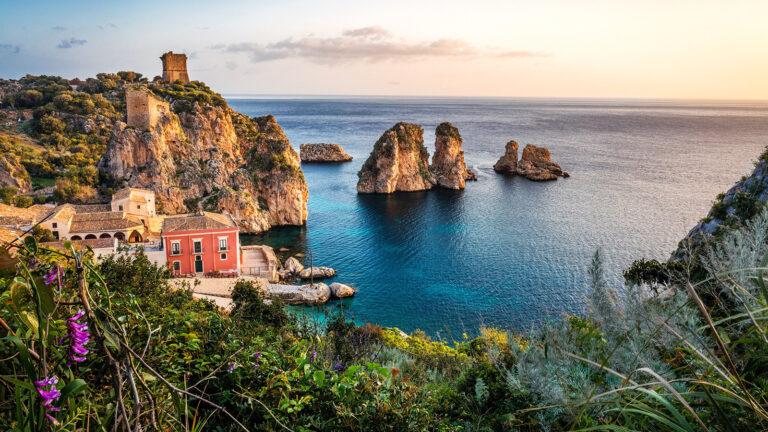 Tonnara di Scopello im Norden von Sizilien, Italien