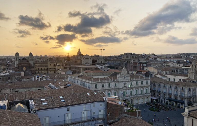 Sonnenuntergang über Catania