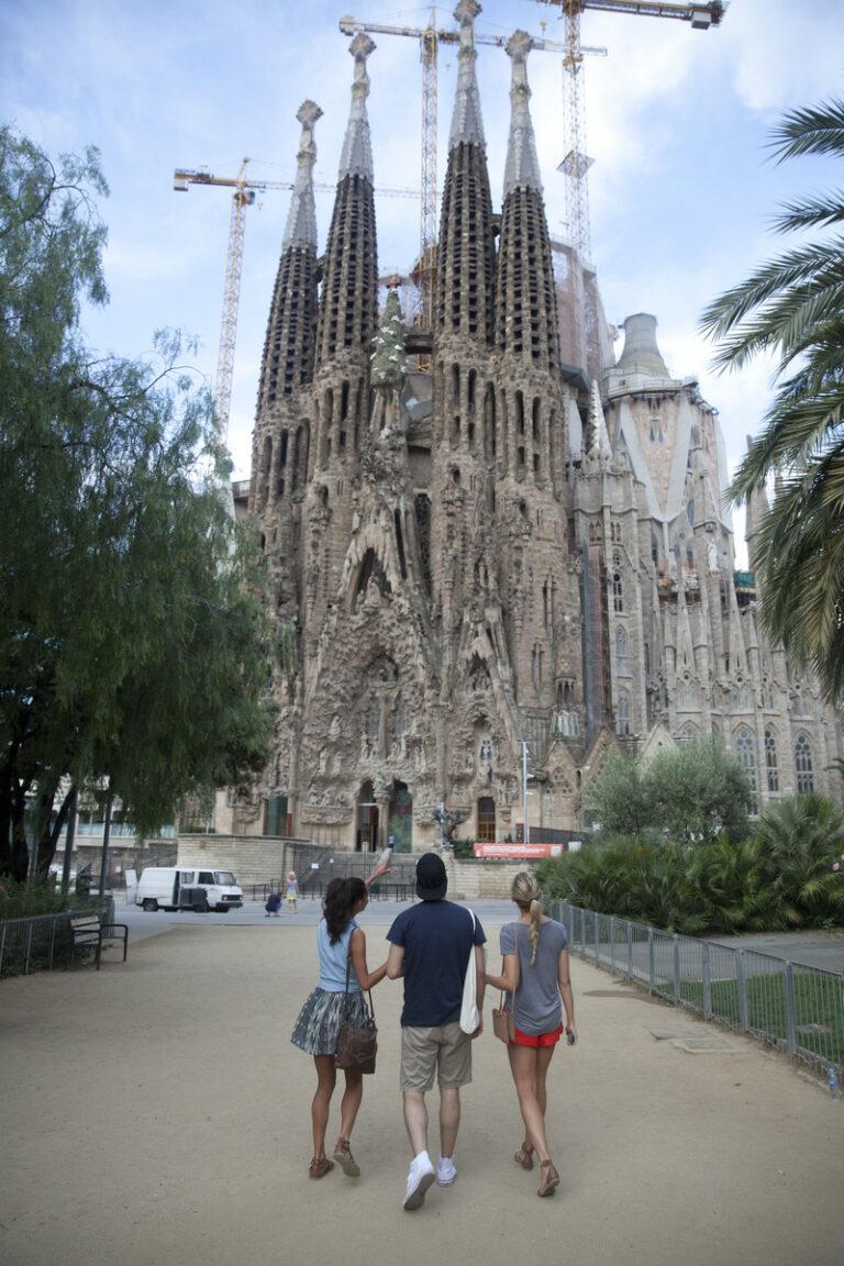 Die ikonische Kathedrale Sagrada Familia