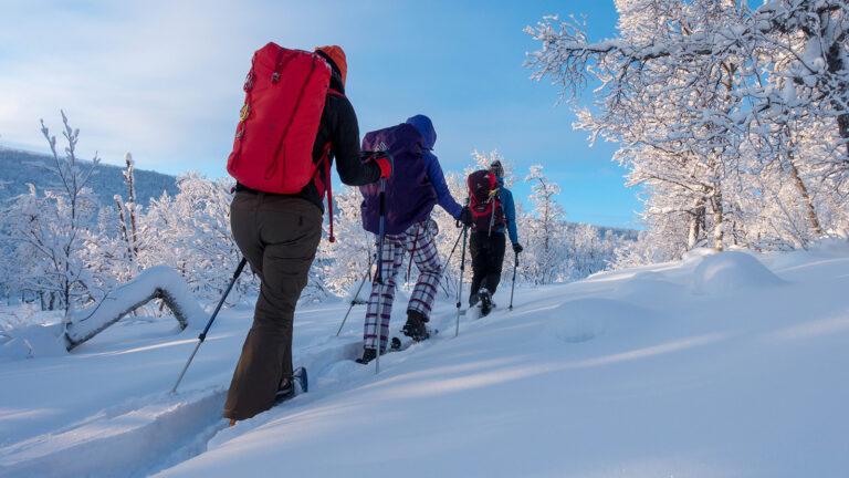 Lofoten Reise: mit den Schneeschuhen die norwegische Inselgruppe entdecken