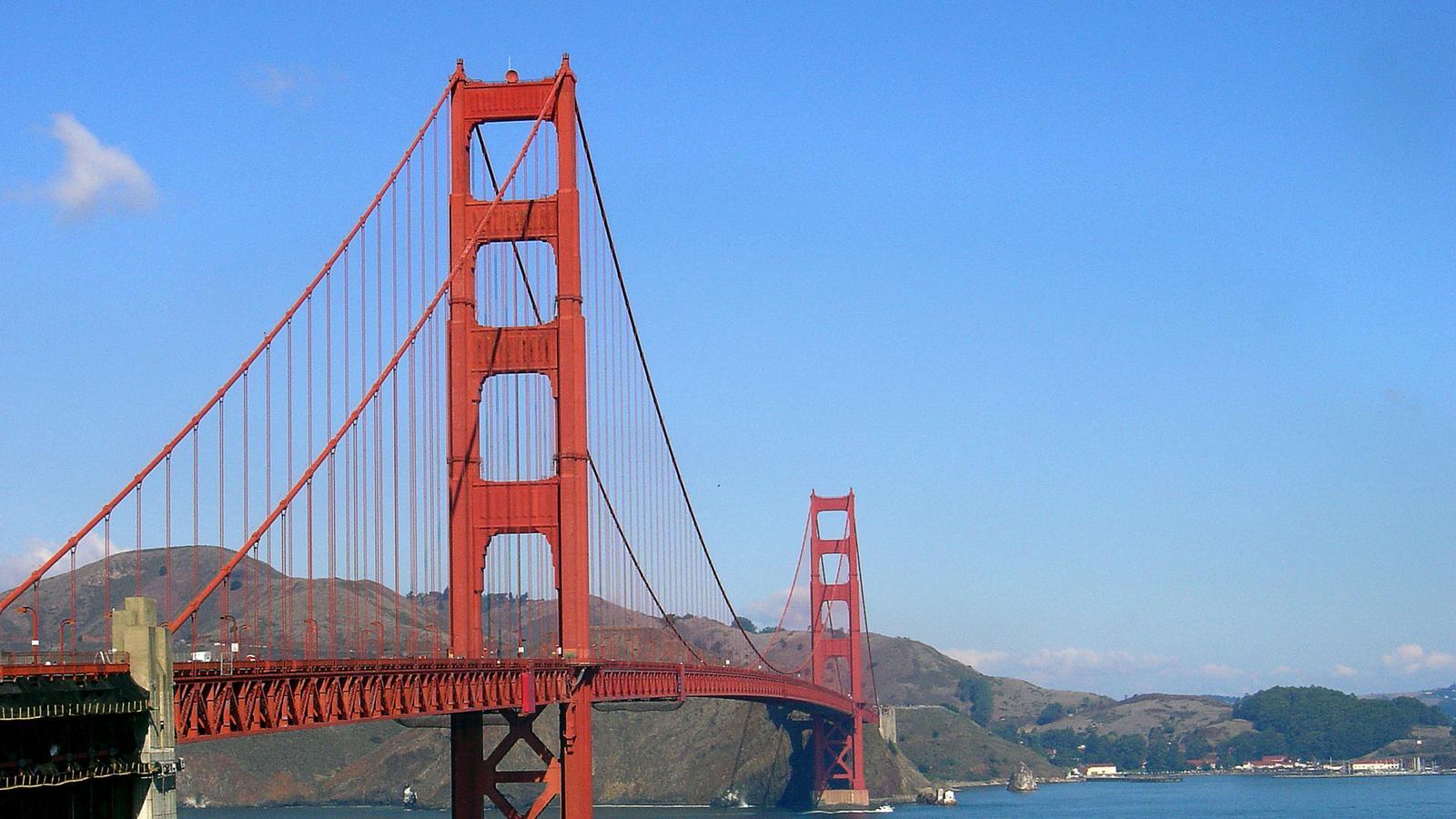 Golden Gate Bridge Usa Westküste Campingreise für junge Leute in der Gruppe traveljunkies
