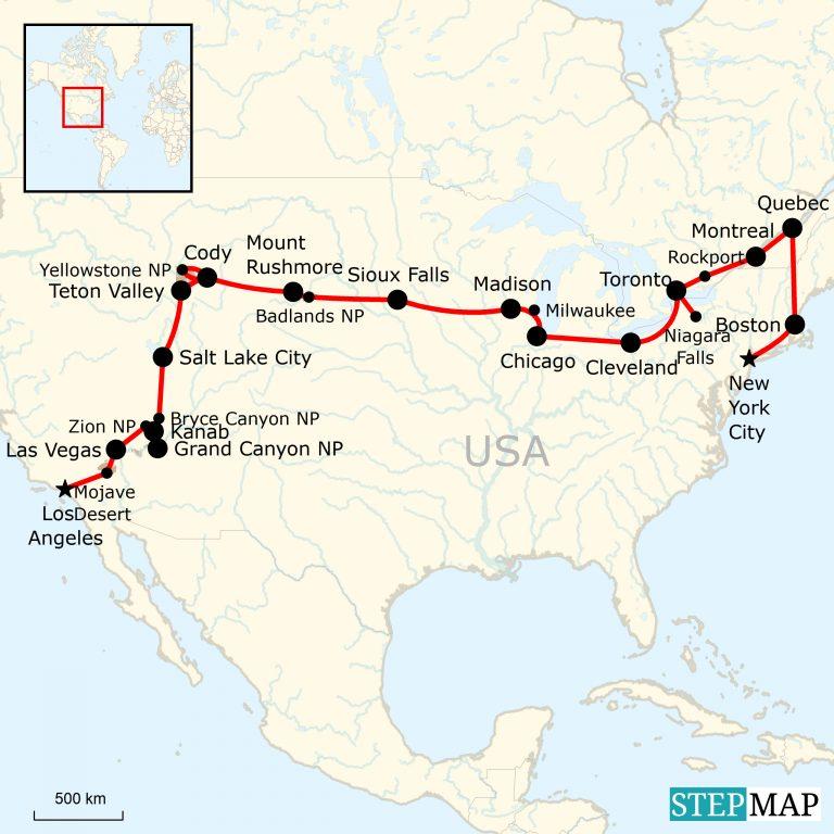 Indianerstamme Nordamerikas Karte.Grossartiges Nordamerika Traveljunkies Tours