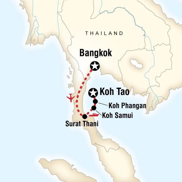 Thailand Inseln Karte.Thailand Insel Hopping An Der Ostküste Traveljunkies Tours