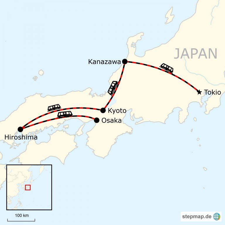 Karte Neuseeland Südinsel Zum Ausdrucken.Japan Erlebnisreise Von Tokio Nach Osaka Traveljunkies Tours