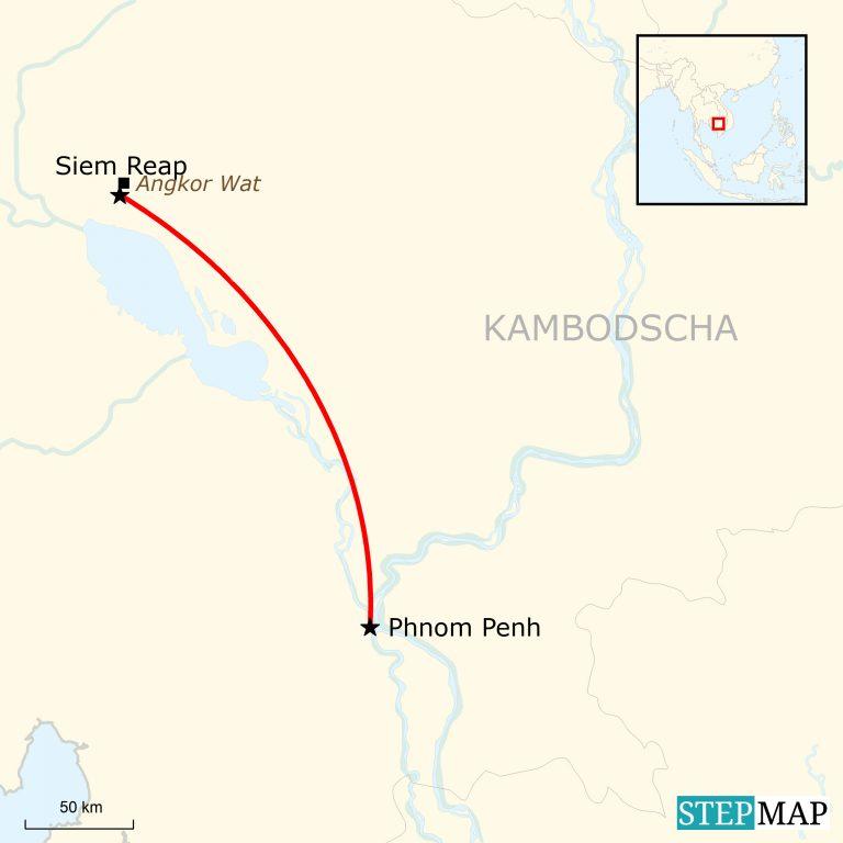 Angkor Wat Karte.Kambodscha Express Traveljunkies Tours