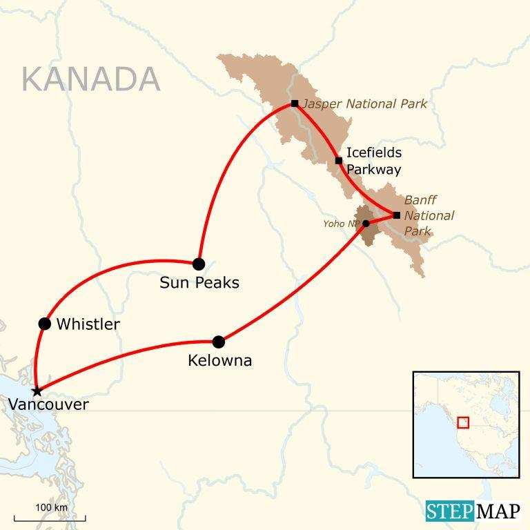 Kanada Abenteuerreise: Quer durch die Rocky Mountains ...