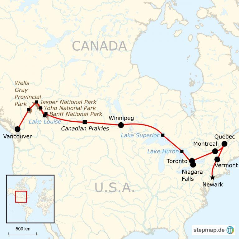 Montreal Altstadt Karte.Kanada Roadtrip Von Ost Nach West Traveljunkies Tours