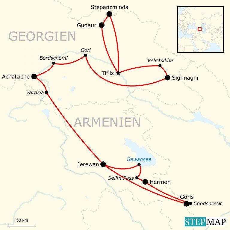 Georgien Karte Regionen.Kaukasus Hautnah Abenteuerreise Durch Georgien Und Armenien