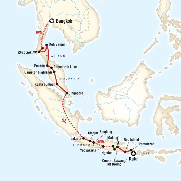 Bali Karte Asien.Asien Adventure Von Bangkok Nach Bali Traveljunkies Tours