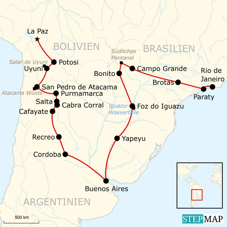 Atacama Wüste Karte.Mit Dem Overland Truck Von La Paz Nach Rio De Janeiro