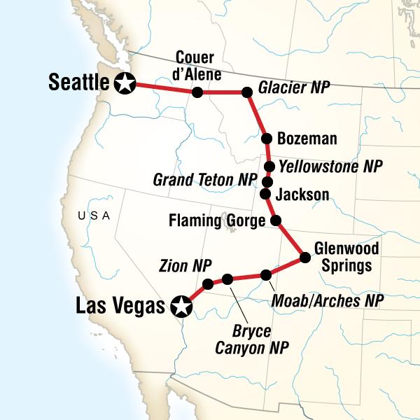 Indianerstamme Nordamerikas Karte.Usa Roadtrip Zu Den Nationalparks Im Nordwesten