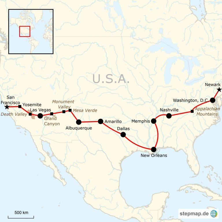 Roadtrip quer durch die USA | traveljunkies.tours