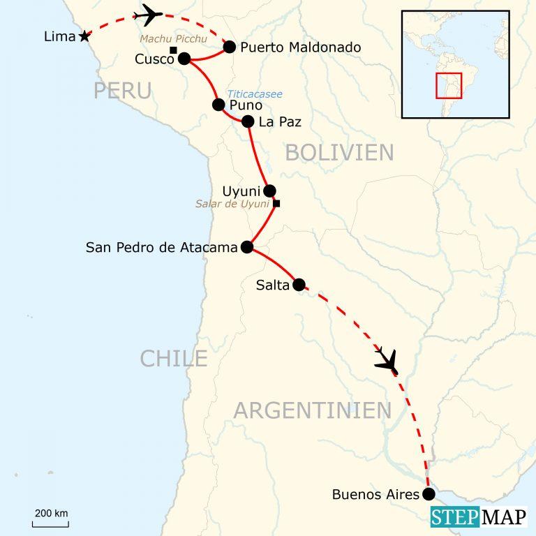 Peru Karte Südamerika.Südamerika Reise Für Junge Leute Lima Nach Buenos Aires