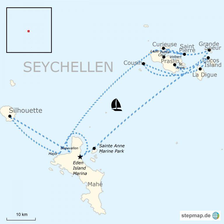 Seychellen Karte Afrika.Segeln Auf Den Seychellen Traveljunkies Tours