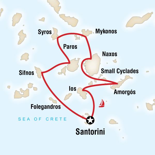 Kykladen Karte.Kykladen Abenteuer Segeltörn Traveljunkies Tours