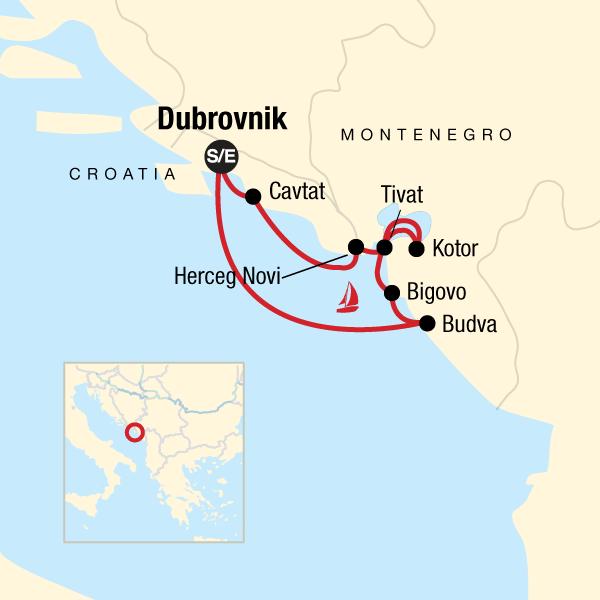 Karte Montenegro Kroatien.Segeln In Kroatien Montenegro Traveljunkies Tours