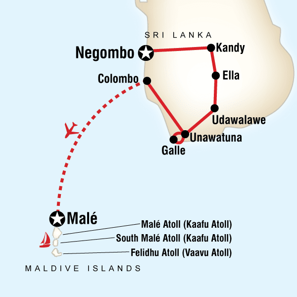Seychellen Malediven Karte.Sri Lanka Abenteuerreise Segeln Auf Den Malediven Traveljunkies
