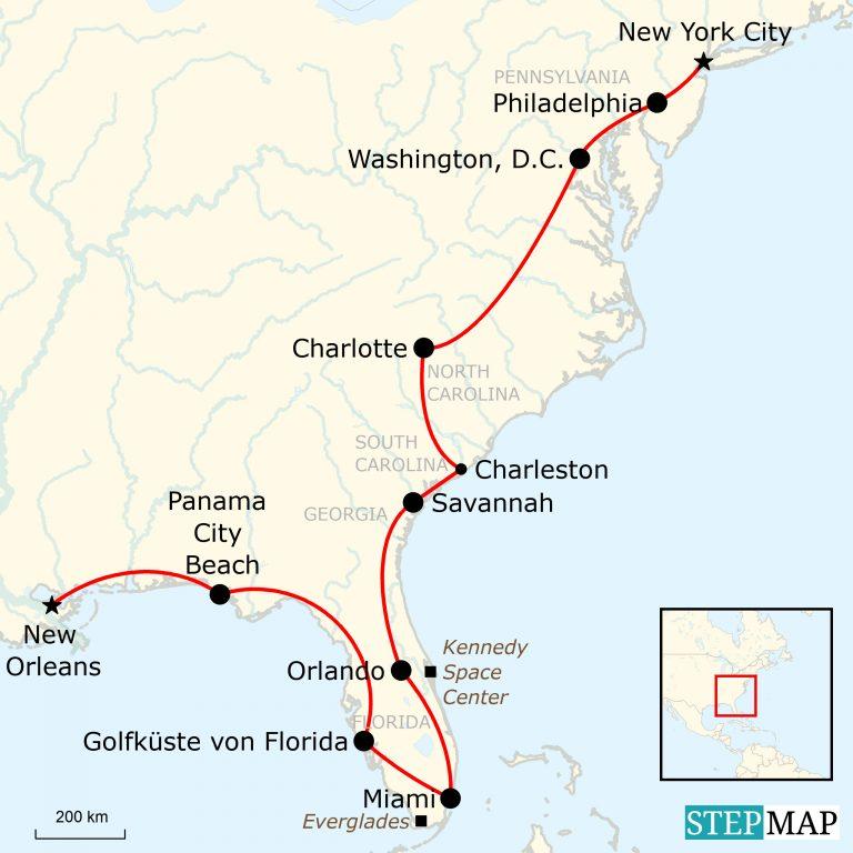 Sunshine States Von New Orleans Nach New York Traveljunkies Tours