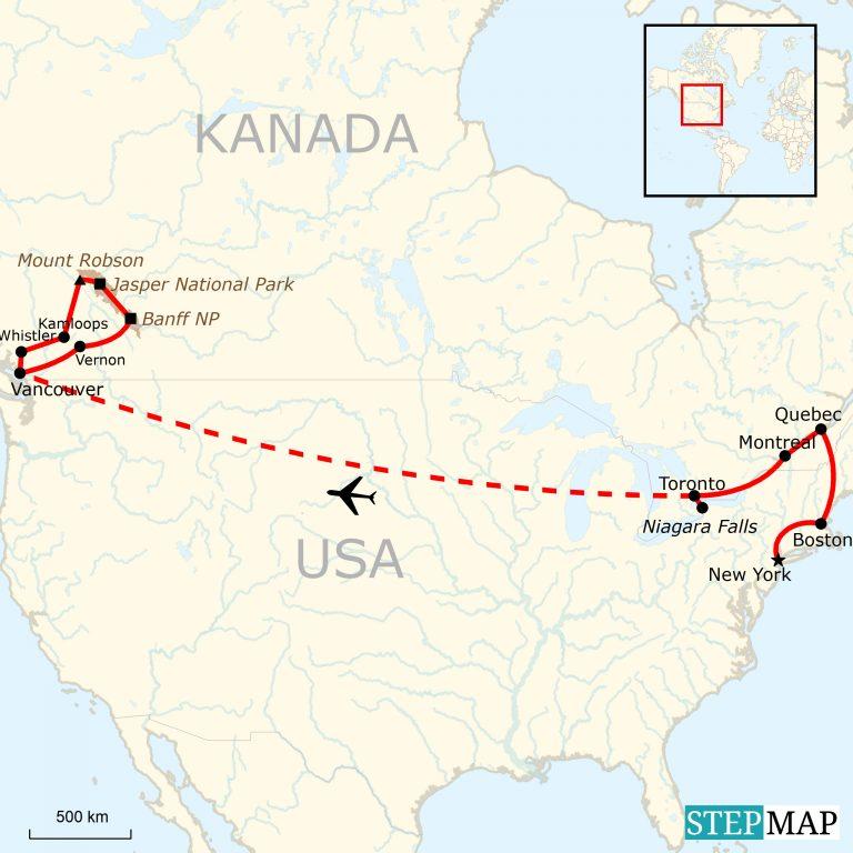 USA & Kanada grandiose Abenteuerreise | traveljunkies.tours