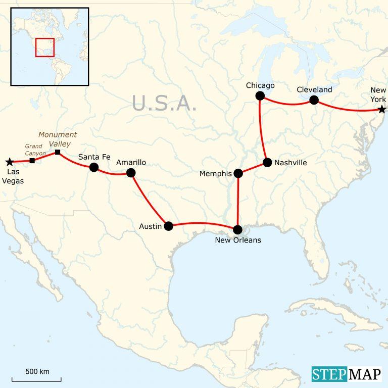 Urlaub In Den Usa Von Las Vegas Nach New York Traveljunkies Tours
