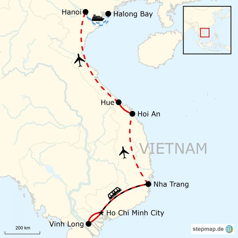 Vietnamkrieg Karte.Vietnam Abenteuerreise Deluxe Traveljunkies Tours