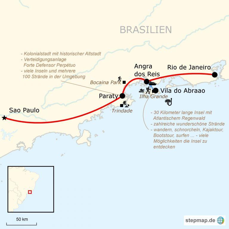 Mit Dem Auto Uber Die Costa Verde Von Sao Paulo Nach Rio De