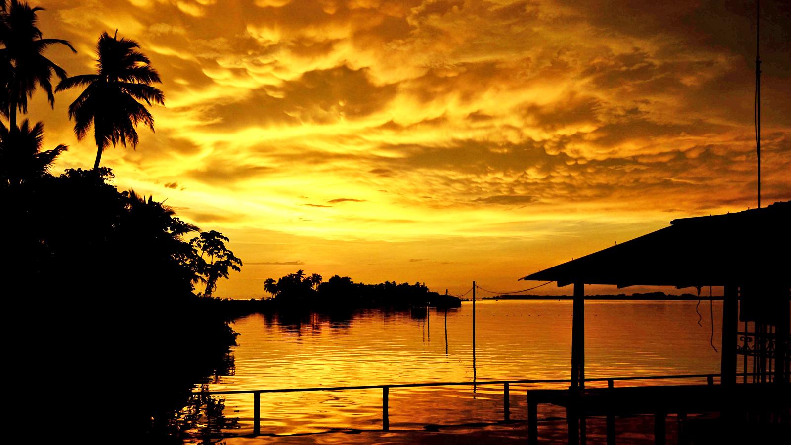 Maracaibo See in Venezuela. Bundesstaat Zulia mit Catatumbo Delta und Wetterleuchten traveljunkies