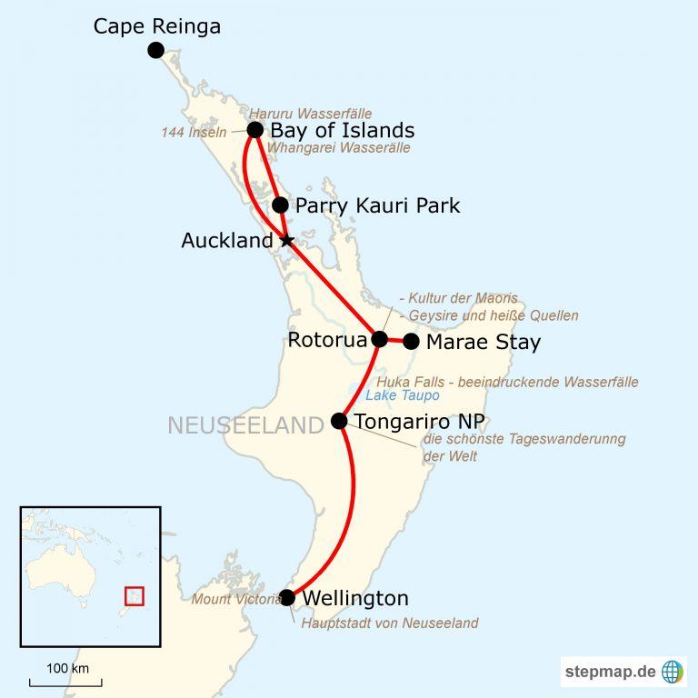 Neuseeland Nordinsel Karte.Neuseeland Erkundung Der Nordinsel I Traveljunkies Tours
