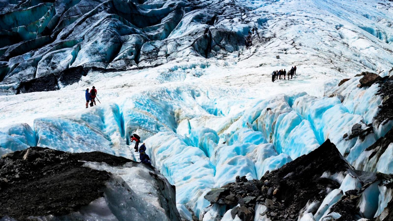 Reisen für junge Leute Neuseeland Frans Josef Gletscher traveljunkies