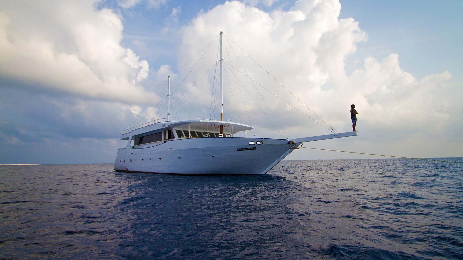 Urlaub auf einem Dhoni die Malediven mit einem Schiff entdecken Gruppenreisen Segeln traveljunkies
