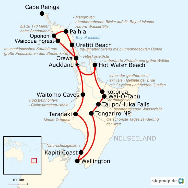 Neuseeland Nordinsel Karte.Top 10 Punto Medio Noticias Neuseeland Nordinsel